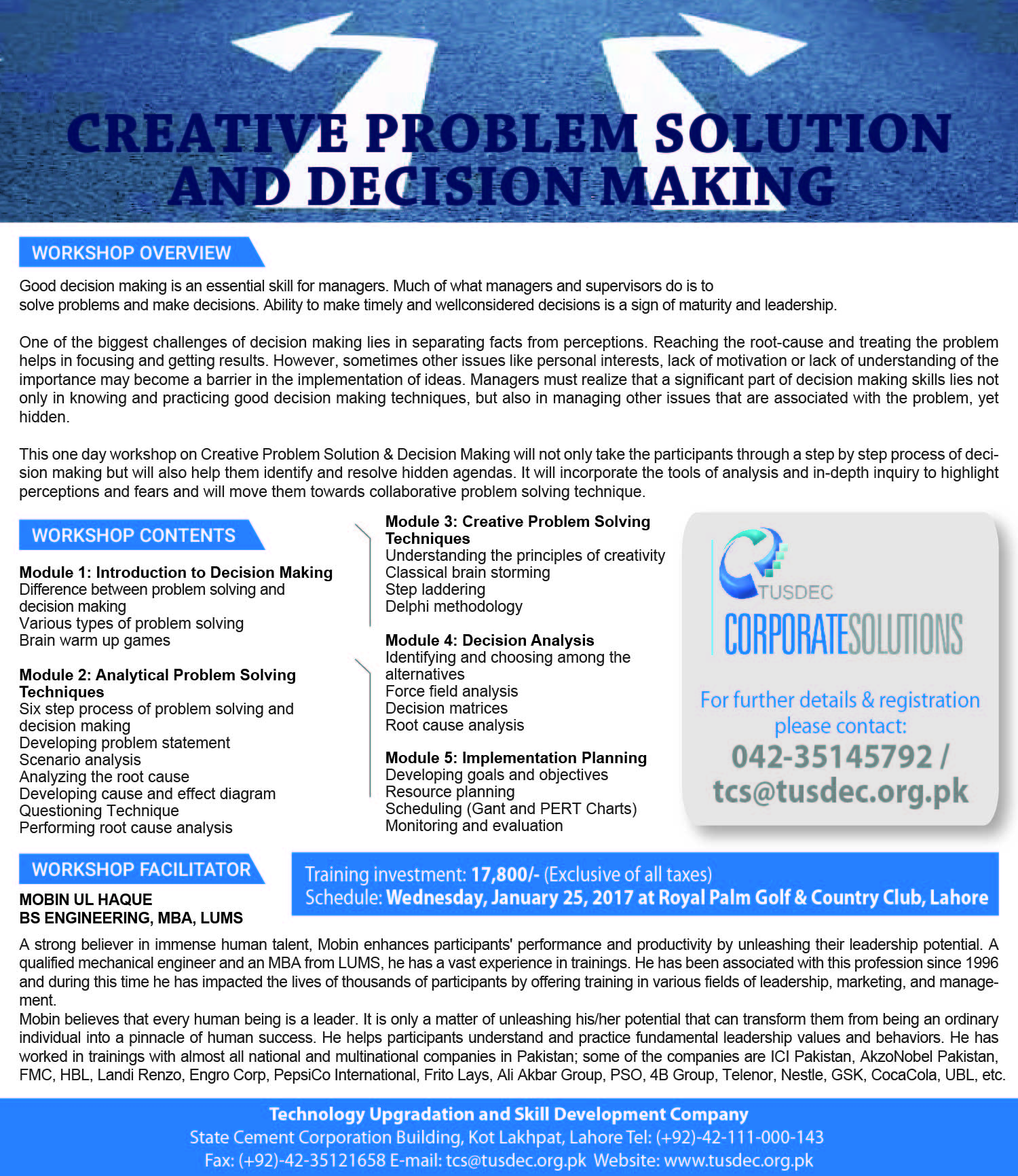 Creative Problem Solution and Decision Making - FINAL